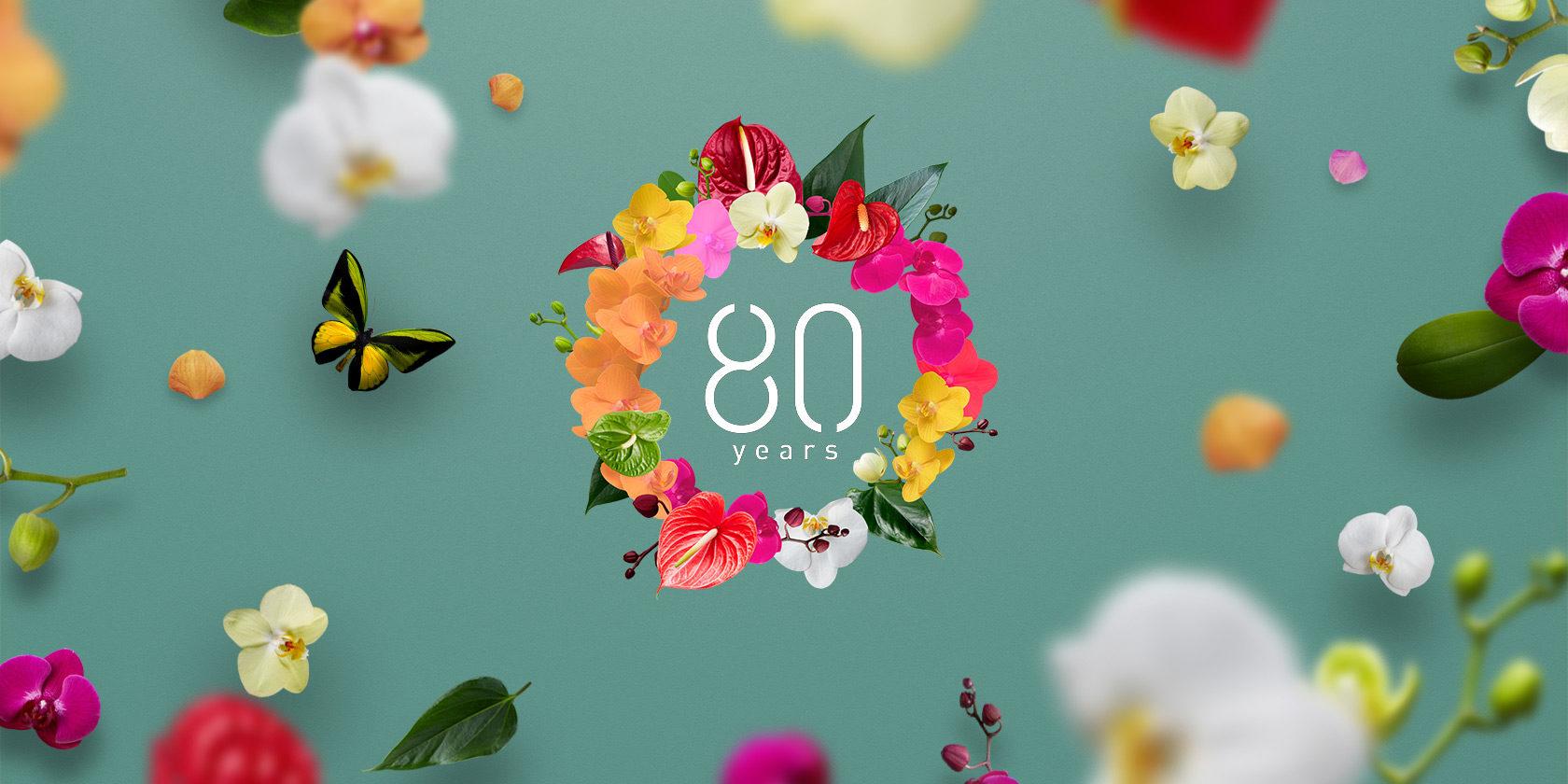 Anthura 80-jarig jubileum. Anthurium en orchidee specialist