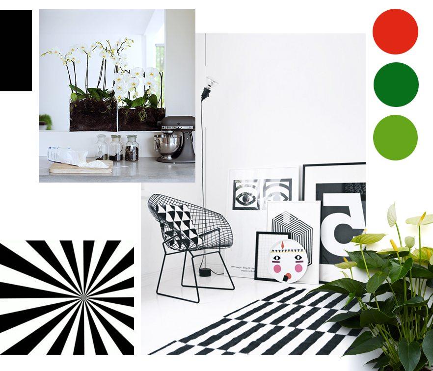 Zwart en wit grafisch design